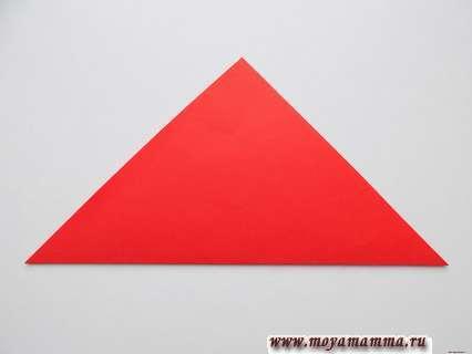 квадрат складываем по диагонали