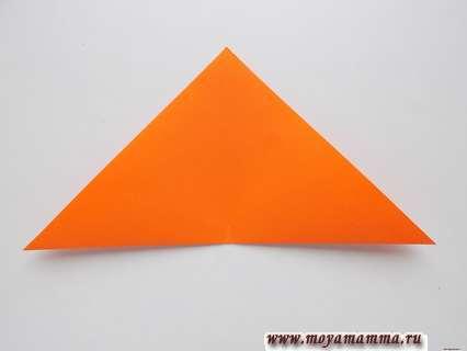 сделать сгиб данного треугольника
