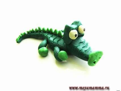 крокодил из пластилина