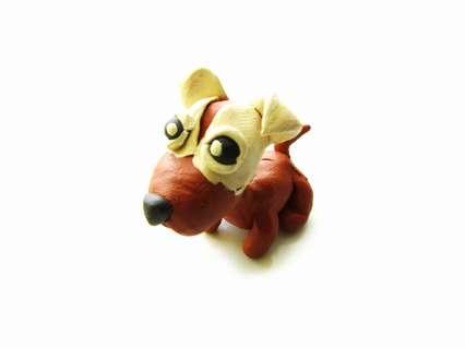 щенок из пластилина