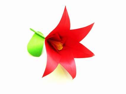 Как сделать объемный цветок из цветной бумаги поэтапно