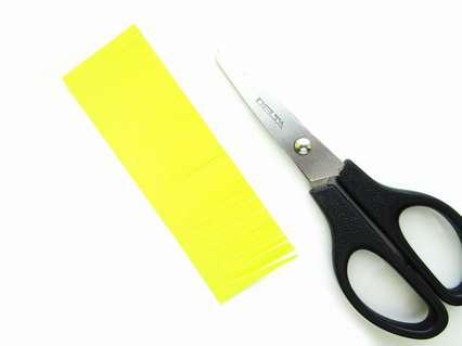 желтая бумага для серединки цветка