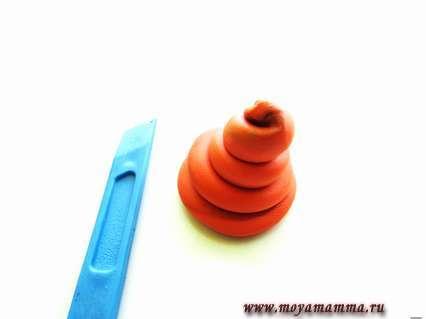 объемная спираль для «домика» улитки