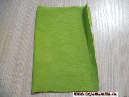 складывание пополам для сшивания