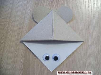 закладка для книг мышка из бумаги