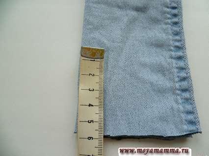 разметка внутреннего шва джинсов для басика