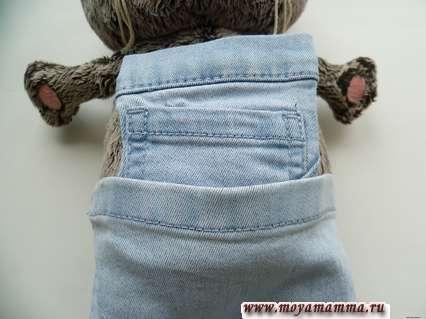 примерка переда к детали штанов