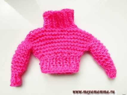 свитер для куклы Барби простым способом