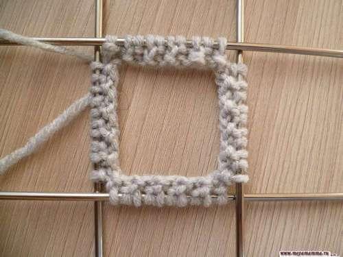 распределение петель на 4 спицы и начало вязания резинки