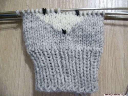 вязание жаккардовог узора лисичка