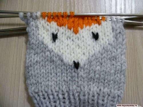 вязание лисички