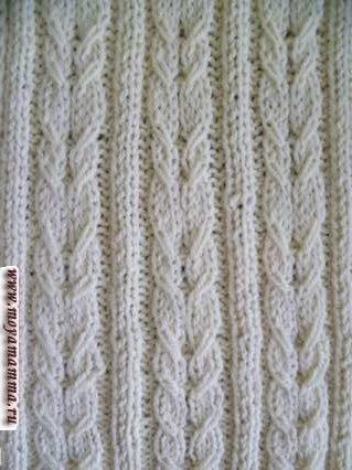 Узор косы с резинкой 2х2 для шарфа