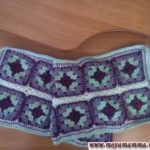 шарф из бабушкиных квадратов