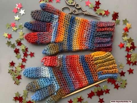как связать перчатки крючком