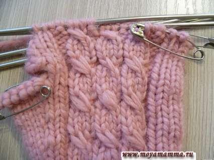 вязание перчаток спицами - мизинец