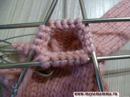 вязание среднего пальца