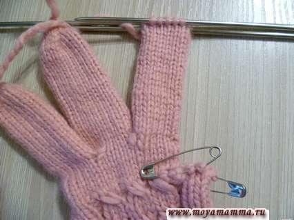 Вязание безымянного пальца