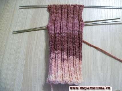 вязание прямой пятки