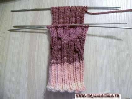 вязание прямой пятки носка