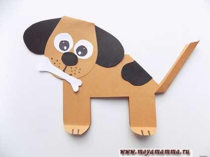 Как сделать собачку из бумаги
