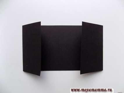 Верхняя часть поделки будет выполнена из черной полоски