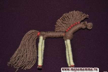 Мастер-класс славянская кукла -ноги коня