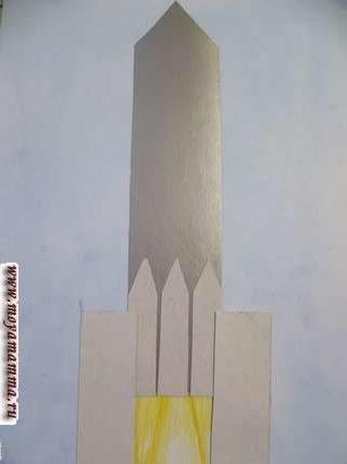летающая ракета - начало взлета