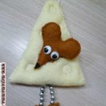 мышка с сыром из фетра