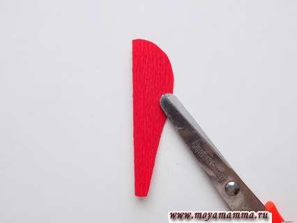 Вырезание заготовки для лепестков