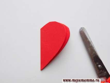 Вырезание сердечек.