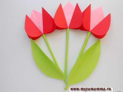 Букет тюльпанов из бумаги