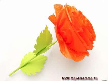 Как сделать цветок из бумажной салфетки