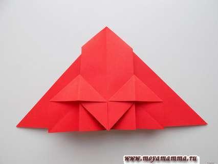Как сделать ракету оригами. Придание складке треугольной формы