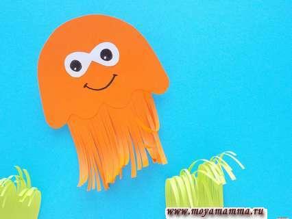 Приклеивание медузы