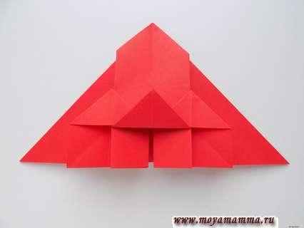 Как сделать ракету оригами. Нижняя часть ракеты