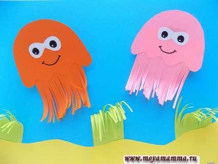 Медузы из бумаги