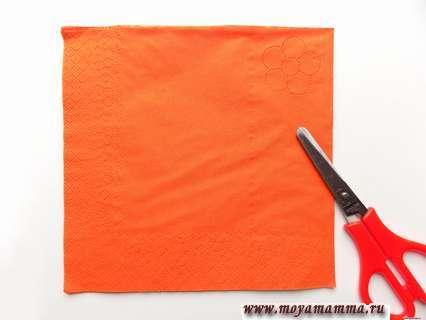 Трехслойна бумажная салфетка