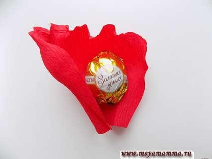 Укладывание конфеты