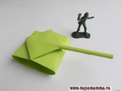 танк из бумаги с пошаговой инструкцией