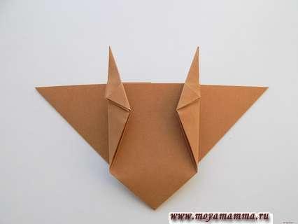 Бычок оригами. Формирование рожек бычка
