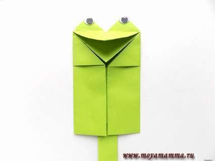 квакающая лягушка из бумаги