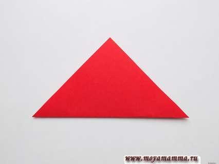 Складывание квадрата по диагонали
