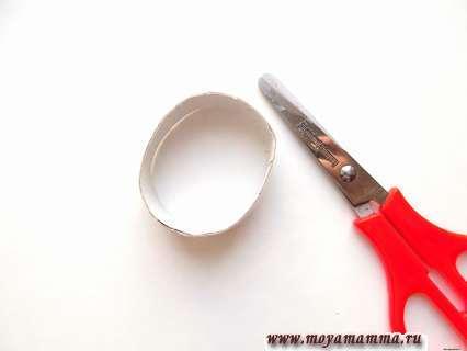 Отрезание кольца от картонной втулки