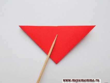 Придание формы треугольника