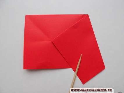 Объемная звезда из бумаги поэтапно.