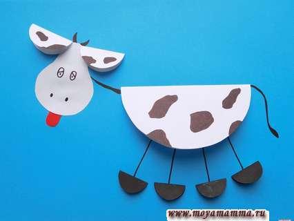 аппликация корова