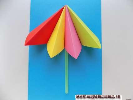 Аппликация пляж. Опора для зонтика