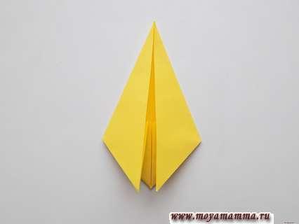 Осенний лист из бумаги.
