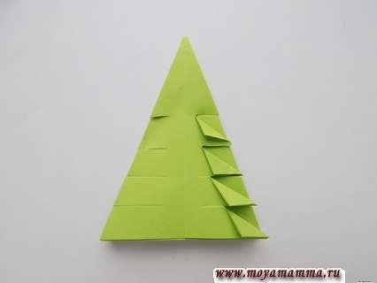 Елочка из бумаги. Треугольные сгибы