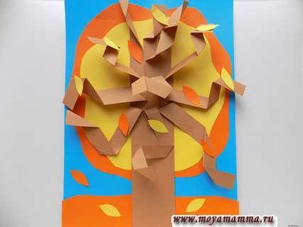 аппликация Осеннее дерево